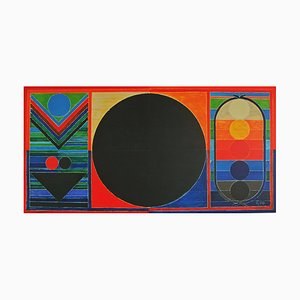Lithographie Tree, Bindu and Five Elements par Sayed Haider Raza, 2008