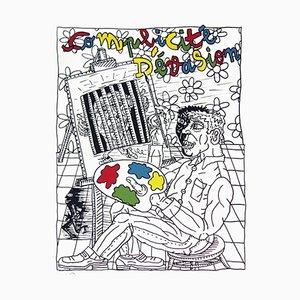 Litografia Painter in Prison di Robert Combas
