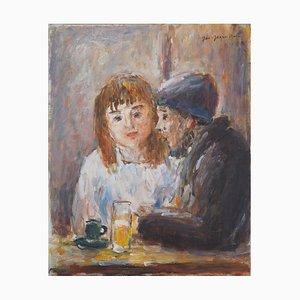Au café Oil Painting by Jean-Jacques René