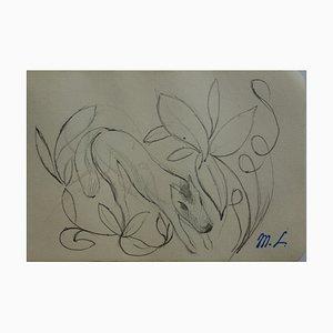 Horse Ornament Zeichnung von Marie Laurencin