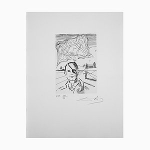 Salvador DALI : Moshe-Dayan - Original etching, Signed and numbered