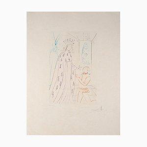 Salvador DALI - Lady Godiva, Lithographie originale signée