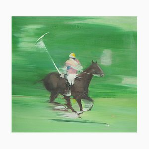 Victor SPAHN - Polo player, signed original oil on canvas