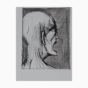 Bernard Buffet - L'enfer de Dante / Damné ricanant - Drypoint