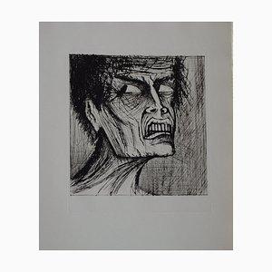 Bernard Buffet - L'enfer de Dante / Angélo - Drypoint