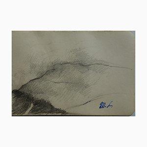 Marie LAURENCIN: Paysage, dessin original signé