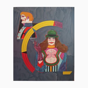 Richard LINDNER: At the circo - Litografia firmata