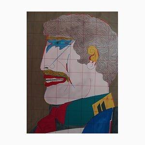 Richard LINDNER - Self Portrait in Costume, original signed lithograph