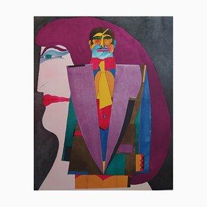 Richard LINDNER : Le couple Pop - Lithographie originale Signée