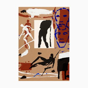 Composition for the Olympic Games Screenprint by Mimmo Paladino, 1992