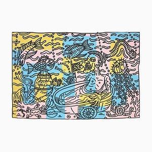 PACA Siebdruck von Robert Combas, 1996