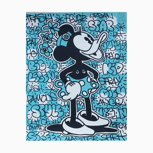 Disney in Blue Lithograph by Speedy Graphito, 2014