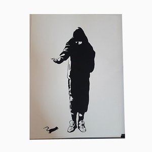The Beggar Silkscreen by Blek le Rat