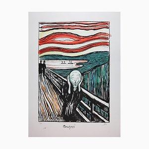Litografia The Scream di Edvard Munch, 1895