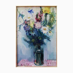 Bouquet of Flowers Oil on Canvas by Paul Collomb