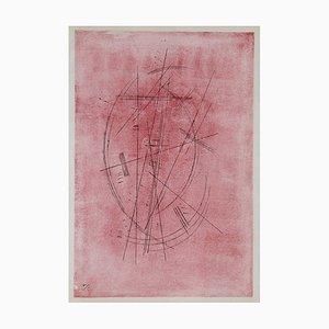 Lithographie Zeichnung in Rosa / Pink Wassily Kandinsky, 1952