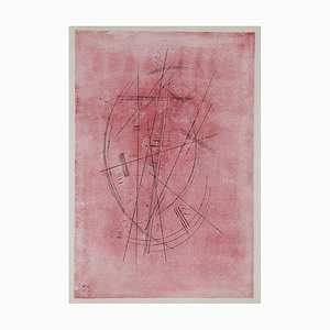 Zeichnung in Rosa/Pink Drawing Lithograph Wassily Kandinsky, 1952