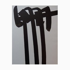 Lithograph n ° 28 by Pierre Soulages, 1970