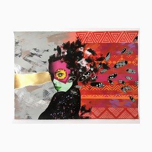 Arabella FTR Hand-Embellished Screenprint by Static