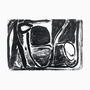 Black and White Composition Lithograph by Bram van Velde