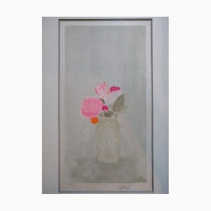 Bouquet Lithograph by Bernard Cathelin