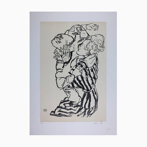The Mother & the Child (Edith Schiele and her nephew) Lithograph by Egon Schiele, 1915