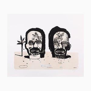 Graveurs Lithograph by Damien Deroubaix, 2017