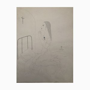 Prayer Etching by Leonard Tsuguharu Foujita, 1924