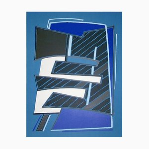Composizione in Azzuro Lithograph by Alberto Magnelli, 1965