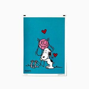 Mr. A Loves Snoopy Silk Print by Mr. A, 2018