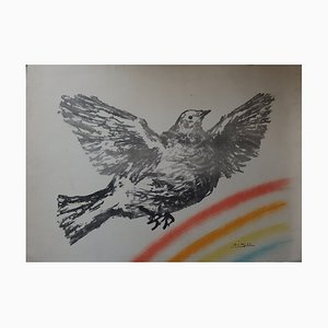 Dove above the Rainbow Lithograph by Pablo Picasso