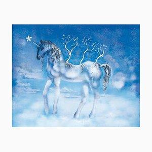 Joyful Horse, or The Unicorn Lithograph by Salvador Dali