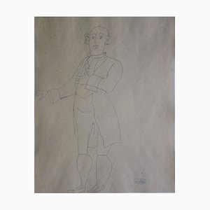 Gallant Man Drawing by André Derain