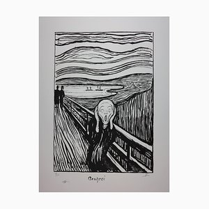 The Scream Lithograph by Edvard Munch, 1895