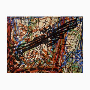 Abstract Composition Lithograph by Jean-Paul Riopelle