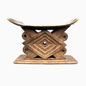Ghana, Ashanti - Stool with geometric patterns