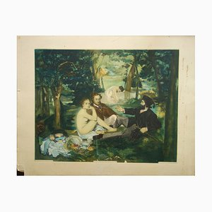 The Luncheon on the Grass Engraving Reprint by Edouard Manet, 1929