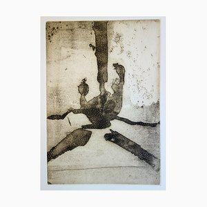 Gravure à l'Eau Forte Composition Abstraite par Robert Motherwell, 1967