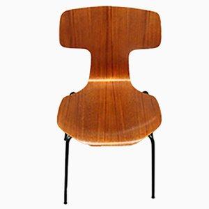 Silla modelo 3103 de teca de Arne Jacobsen para Fritz Hansen, años 70