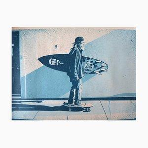 Shepard Fairey (Obey) - Jeff Ho Zephyr (Blue), 2017, Signed silkscreen