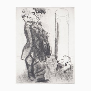 Sobakevitch Near the Armchair Engraving by Marc Chagall, 1948