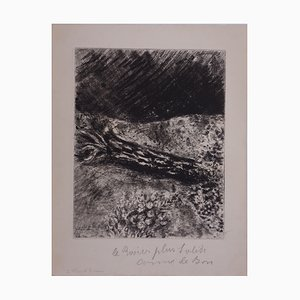 The Oak and the Reed Engraving by Marc Chagall