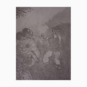 Gravure The Hen avec les Oeufs d'Or par Marc Chagall, 1952