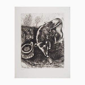 Marc CHAGALL (1887-1958) - The horse and the donkey, 1952, original signed engraving