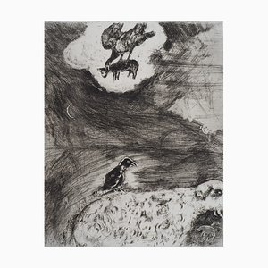 Gravure The Horse and the Donkey par Marc Chagall, 1952