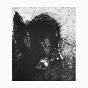 Odilon Rodon, Captive Pegasus 1889, handsigned & numbered lithorgaph