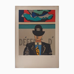 Man with Bowler Hat Lithograph by Jean Helion