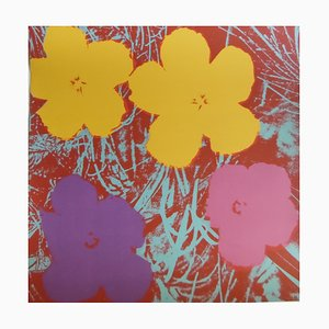 Poppy Flowers Screenprint Reprint by Andy Warhol