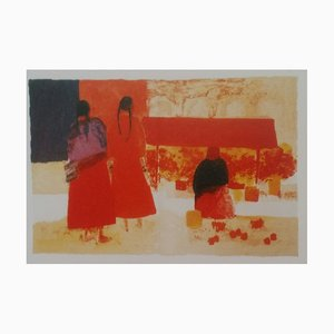 Marche Mexicain Lithograph by Bernard Cathelin, 1965