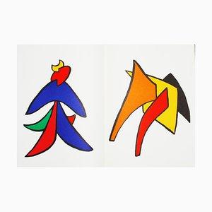Derrière le Miroir Calder (9) Lithographie von Alexandre Calder